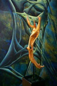 Symbiose Bild und Skulptur